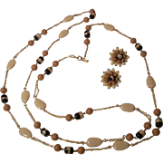 SALE Versatile Signed HATTIE CARNEGIE Necklace Set