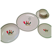 Steubenville Rooster dinnerware set Family Affair