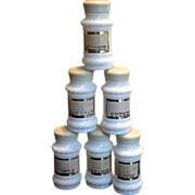Set of 6 Milk Glass Spice Jars