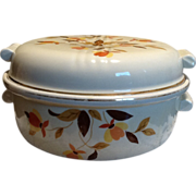 Hall's 1930's Autumn Leaf Covered Casserole Dish