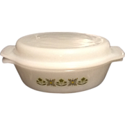 Fire King 1 1/2 quart 2 Piece Casserole Dish