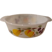Fire King Gay Fad Fruit Design 1.5 Quart dish