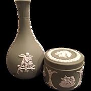 Wedgwood Jasperware Bud Vase and Trinket Box