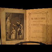 """Antique Italian book """"La Vera Madre di Famiglia"""" -Printed 1879"""