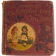 Kate Greenaway's Birthday Book for Children late Victorian