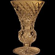 Tyrone Crystal globular stem small vase
