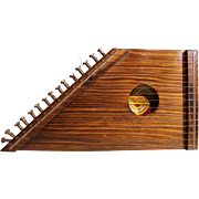 Wood Fifteen-Chord Zither with playing guide for ten melodies