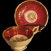 Coalport tea cup and saucer - Pattern 10131