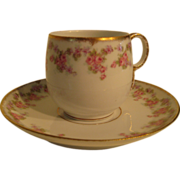 Early 20th Century demitasse cup and saucer by Elite Works