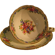 "Paragon ""Minuet"" design vintage cup and saucer"