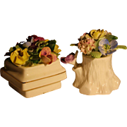 Royal Adderley bone china Floral set of two colorful flower bouquets