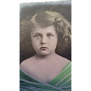 Postcard with real photo of little girl