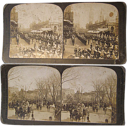 Set of 9 Stereoview Cards - Group 1