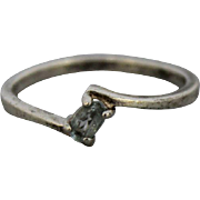 Sterling Silver Starfish Ring with Clear Stone - Size 9