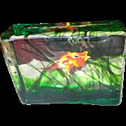 Mid Century Murano Cenedese Fish Aquarium Paperweight