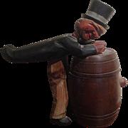 Vintage Black Forrest Man Over a Barrel Mug