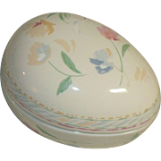 Fine Porcelain Enamel Easter Egg Music Box Collector Edition Heritage House Inc , Somewhere My