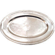 SALE French Christofle Silver Plated Tray from the 'Hotel Royal' Evian-les-Bains dated 1911