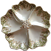 A Fine Porcelain French Oyster Plates from Limoges maker, Tressemanes and Vogt