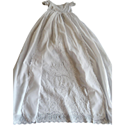 SALE Ayrshire Handmade Antique Christening Gown Elegant with Exceptionally Lavish Embroidery