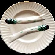 French Asparagus Plate in Majolica Creil et Montereau