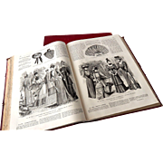 French Fashion 'Magazines'  from 1891 and 1892 in Bound Volumes