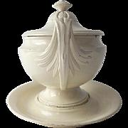 Antique French Soup Tureen Creil, c. 1815
