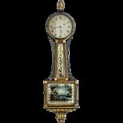 Federal Banjo Clock, Wm. Grant, Boston, ca 1815