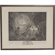 18th century Etching of American Revolution