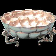 Ortega  900 Mexican Silver Bowl in Colonial Style, by Alfredo Ortega.