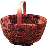 Vintage Southern Appalachian Rib And Split White Oak Cherokee Basket