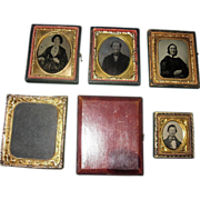 SALE Antique Photographic Ambrotypes, Tintype, Frames, and Case