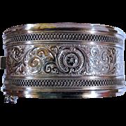 Victorian Sterling Silver Bangle Bracelet