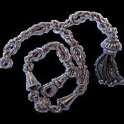 Victorian Sterling Silver Albertina Watch Chain Bracelet