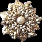 SALE Miriam Haskell pearl-like brooch
