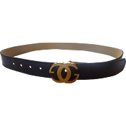 """SALE Gucci Brown """"Cross G"""" 1"""" wide belt from Italy"""