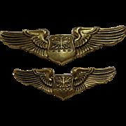 Vintage Set of Early Vietnam Navigator Wings by N S Meyer New York US Military ...