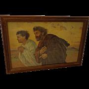 Eugene Burnand Print Apostle John and Peter framed at DT Broun Art Shop Salt Lake ...