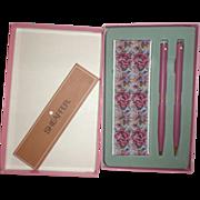 Fabulous White Dot Sheaffer Pen & Pencil Set New in Box