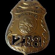 SALE Vintage Conrail Police Railroad RR Illinois Badge