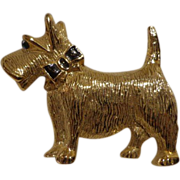 Vintage Park Lane Scottie Dog Pin Scottish Terrier Brooch