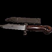 Vintage Bayonet Matching Numbers AK47 Military Rifle Knife