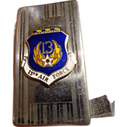 Vintage Early Vietnam 1960s 13th Air Force Money Clip Knife Military