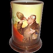 Antique Tankard Mug Drinking Monk Friar Jean Pouyat Limoges Marked JPL Porcelain