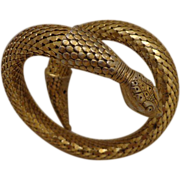 Vintage Whiting & Davis Snake Bracelet Mesh Statement Retro