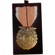 SALE WWII Named Engineers Medal Boxed LG Balfour Co Attleboro Mass