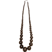 Outrageous and Very Long Vintage Navajo Silver Graduated Bead Statement Necklace