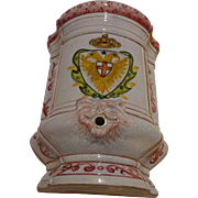 Vintage Italian Majolica Wall Pocket Meiselman Imports Ceramic