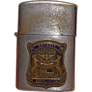 Vintage Detroit Police Lighter with Applied Badge
