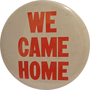 Large Vietnam War Era Pinback Rare Military Veteran Button